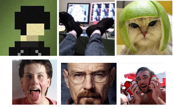 A blurred cartoon, feet, cat, man pulling face, Bryan Cranston, man with beer