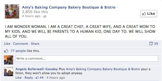 another rant from Amy's Baking