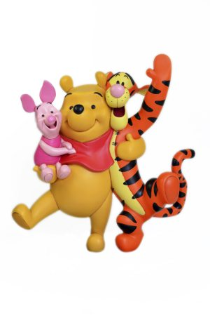 winnie the pooh, tigger and piglet