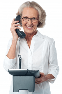 a mum on the phone