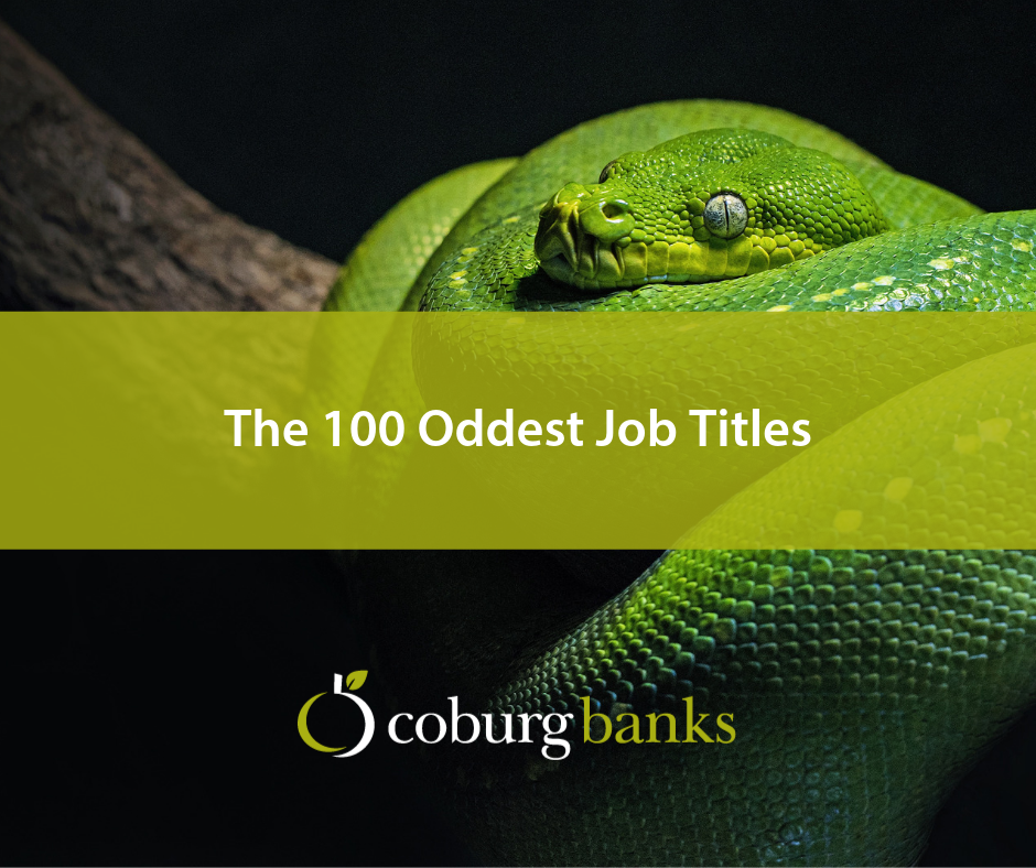 The 100 Oddest Job Titles (That Actually Exist) - Coburg Banks