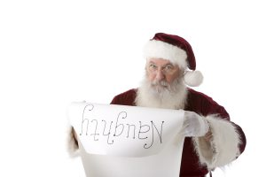santa with his naughty list