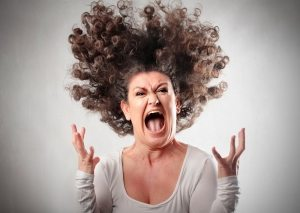 woman screaming in anger