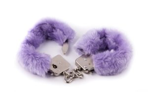 fluffy purple handcuffs