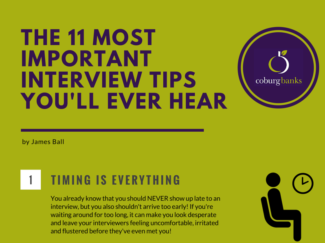 interview tips infographic snippet