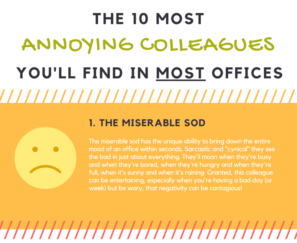 snippet of annoying colleagues infographic