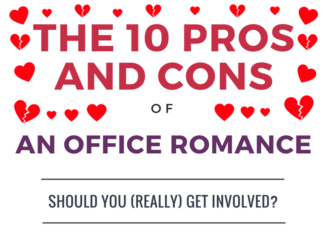 office romance infographic snippet