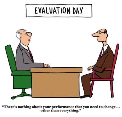 two men in a performance review with caption 'there's nothing about your performance you need to change, except everything