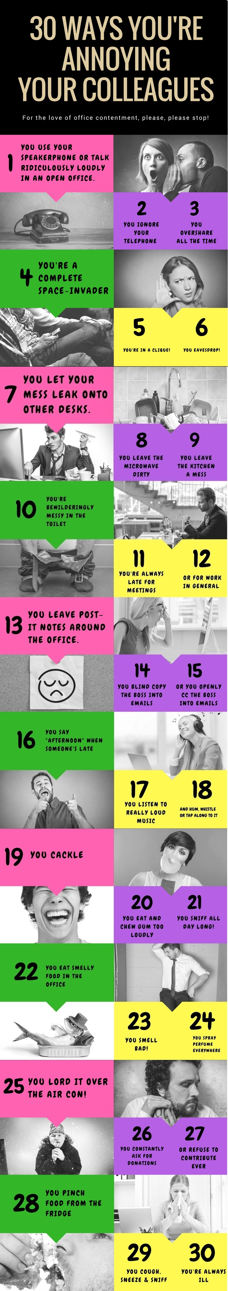 30 Ways You're Annoying Your Colleagues