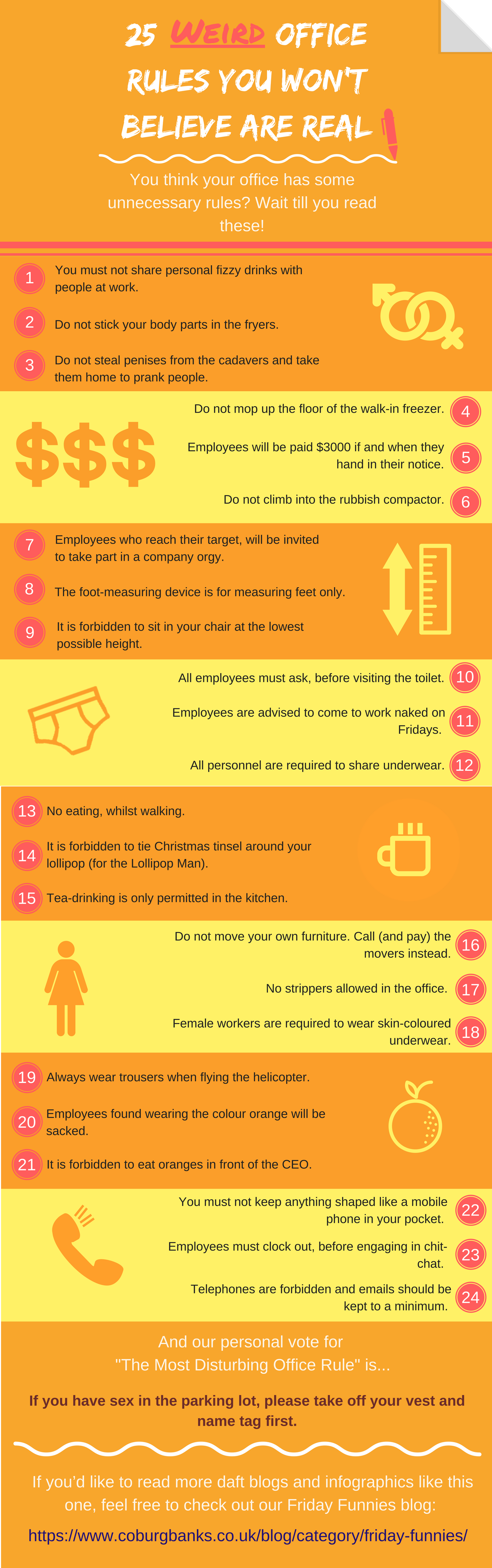 Weird Office Rules Infographic
