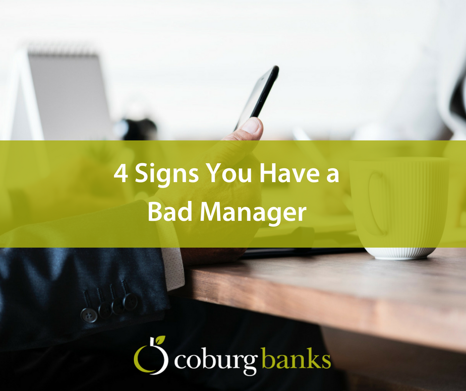 4 Signs You Have a Bad Manager