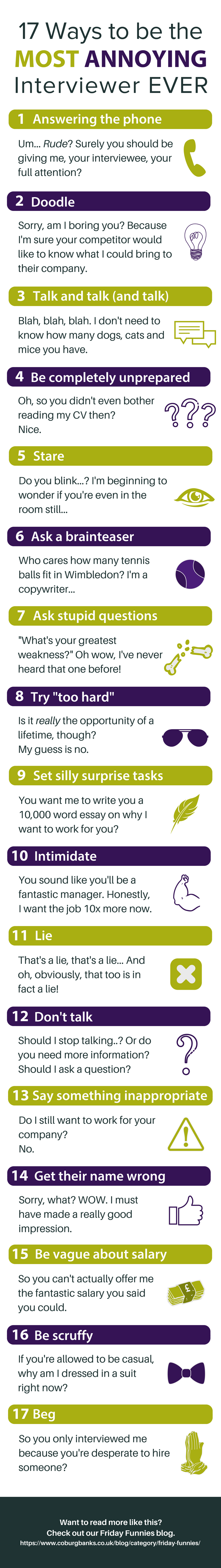 17 Ways to be the most annoying interviewer ever