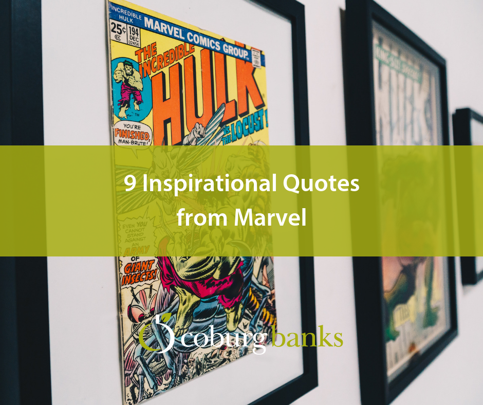 9 Inspirational Quotes from Marvel infographic