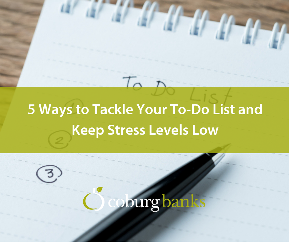5 Ways to Tackle Your To-Do List and Keep Stress Levels Low