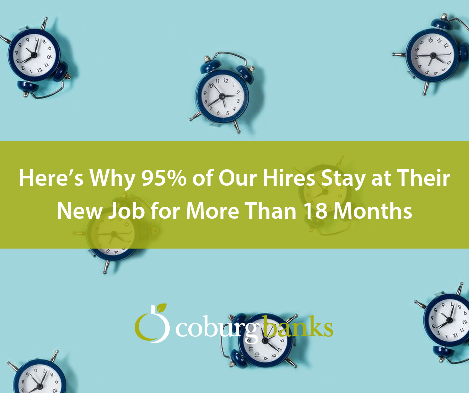 Here's Why 95% of Our Hires Stay at Their New Job for More Than 18 Months