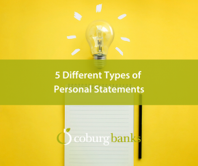 5 Different Types of Personal Statements